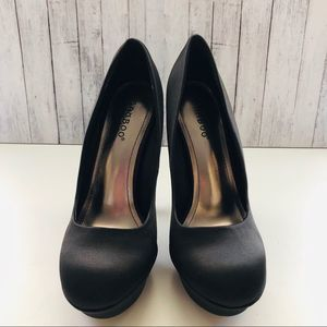 Formal Satin Black Heels | Sz 6